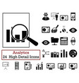 set of 24 analytics icons vector image vector image