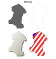 Sherman Map Icon Set vector image vector image