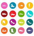 shoe icons many colors set vector image vector image