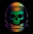 skull astronaut vector image vector image