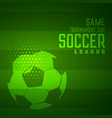 soccer game tournament sports green background vector image vector image
