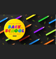 special offer back to school sale advertising vector image vector image