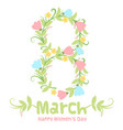 spring 8 march women day banner vector image vector image
