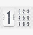 template with light flip scoreboard numbers vector image vector image