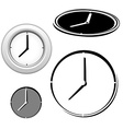 Time clock icons set vector image