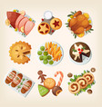 traditional christmas food vector image