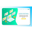 user rating landing page website template vector image