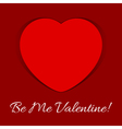 valentines day card - red heart shadow and text vector image vector image