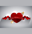 valentines greeting card design heart with gold a vector image vector image