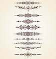 vintage decorative ornaments text dividers set vector image