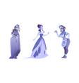 woman ghosts spirits dead girls vector image