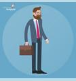 flat design standing businessman vector image