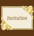 background frame vintage invitation with gold vector image