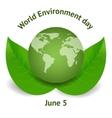 World environment day concept vector image