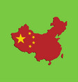 3d flag map china vector image