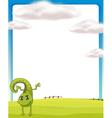 A smiling chameleon vector image vector image