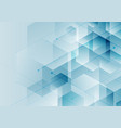 abstract background blue hexagons with diagonal vector image vector image