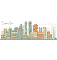 Abstract Brasilia Skyline with Color Buildings vector image vector image