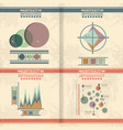 abstract infographics sketches set icons vector image