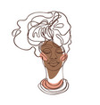 abstract portrait young african american woman vector image vector image