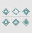 abstract rhomb emblems set vector image vector image