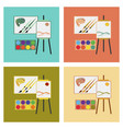 assembly flat icons drawing lesson vector image vector image