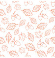 autumn oak leaves pattern vector image