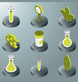 biology color isometric icons vector image vector image