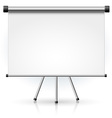 blank portable projection screen vector image vector image