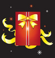 Boxed gift vector image vector image