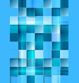 Bright geometric tech blue squares background vector image vector image