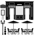business boutique shop store a scenario of a vector image