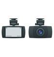 car dvr portable mobile dvr video camera camcorder vector image