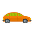 car in water icon flat style vector image