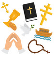 christian religion pattern religious vector image vector image
