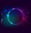 Circle neon light banner with free space for text