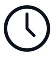 clock icon isolated on white background clock vector image vector image