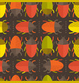colorful repeated beetles pattern vector image vector image