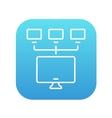 Computer network line icon vector image
