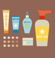 cream sunscreen bottle icon sunblock vector image