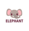 cute elephant cartoon logo icon vector image