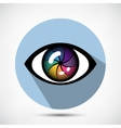 Cyber Eye Icon vector image vector image