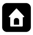 doghouse icon in square style is a vector image vector image