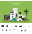 Electronics flat banner vector image