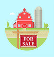 family farmhouse icon isolated on blue background vector image