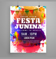 festa junina invitation flyer template design vector image vector image