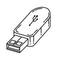 flash drive icon doodle hand drawn or outline vector image