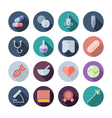 Flat Design Icons For Medical and Health Care vector image vector image