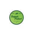 fresh eco friendly green theme label vector image