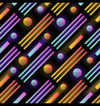 futuristic seamless pattern with glowing gradient vector image vector image
